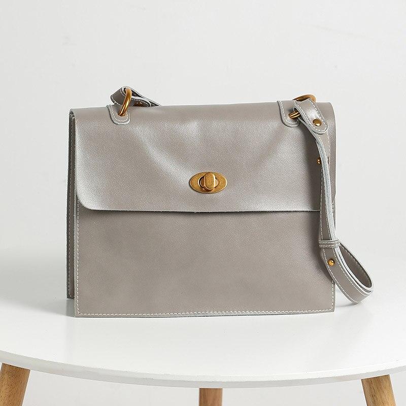 Office Boîte Black Cuir Épaule lavender Lady grey Serviette Wb579 Femmes Véritable Sac De En Moyen Woonam camel Veau 8IUfUq