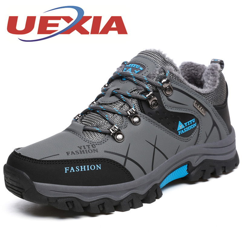 все цены на Plus Size 47 Men Casual Shoes With Fur Winter Outdoor Plush Warm Shoes Autumn Breathable Sport Footwear Mens Trainers Zapatillas онлайн