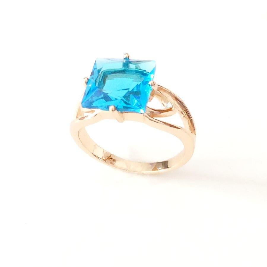 Женское золотое кольцо 585 пробы, кольца квадратной формы из золота 585 пробы, ювелирные изделия|Кольца для помолвки|   | АлиЭкспресс