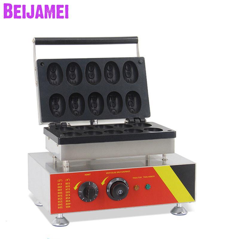 BEIJAMEI коммерческое использование антипригарная 110 В 220 В Электрическая яичная форма электрическая вафельница вафельная машина для продажи