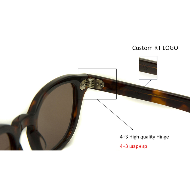 High Quality Acetate Glasses Sunglasses Men Round Small Retro Rivet Sunglasses Women Sun Glasses Uv400 Occhiali Da Sole Donna 6