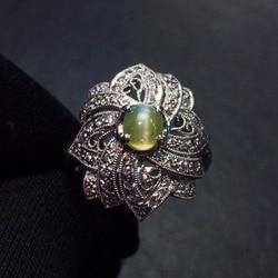 Хорошее ювелирное изделие настоящая Платина Pt900 100% натуральный хризоберил кошачий глаз 0.54ct драгоценные камни женские обручальные кольца д...