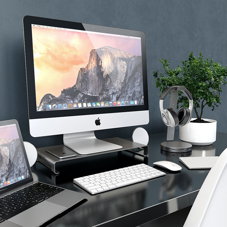 For Apple macbook desktop monitor base notebook stand ...