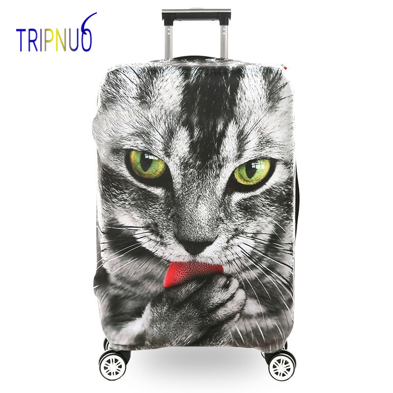 TRIPNUO Thickest Elastic Cat Luggage Suitcase Protective Cover, Apply To 18-32inch Cases, Travel Accessories
