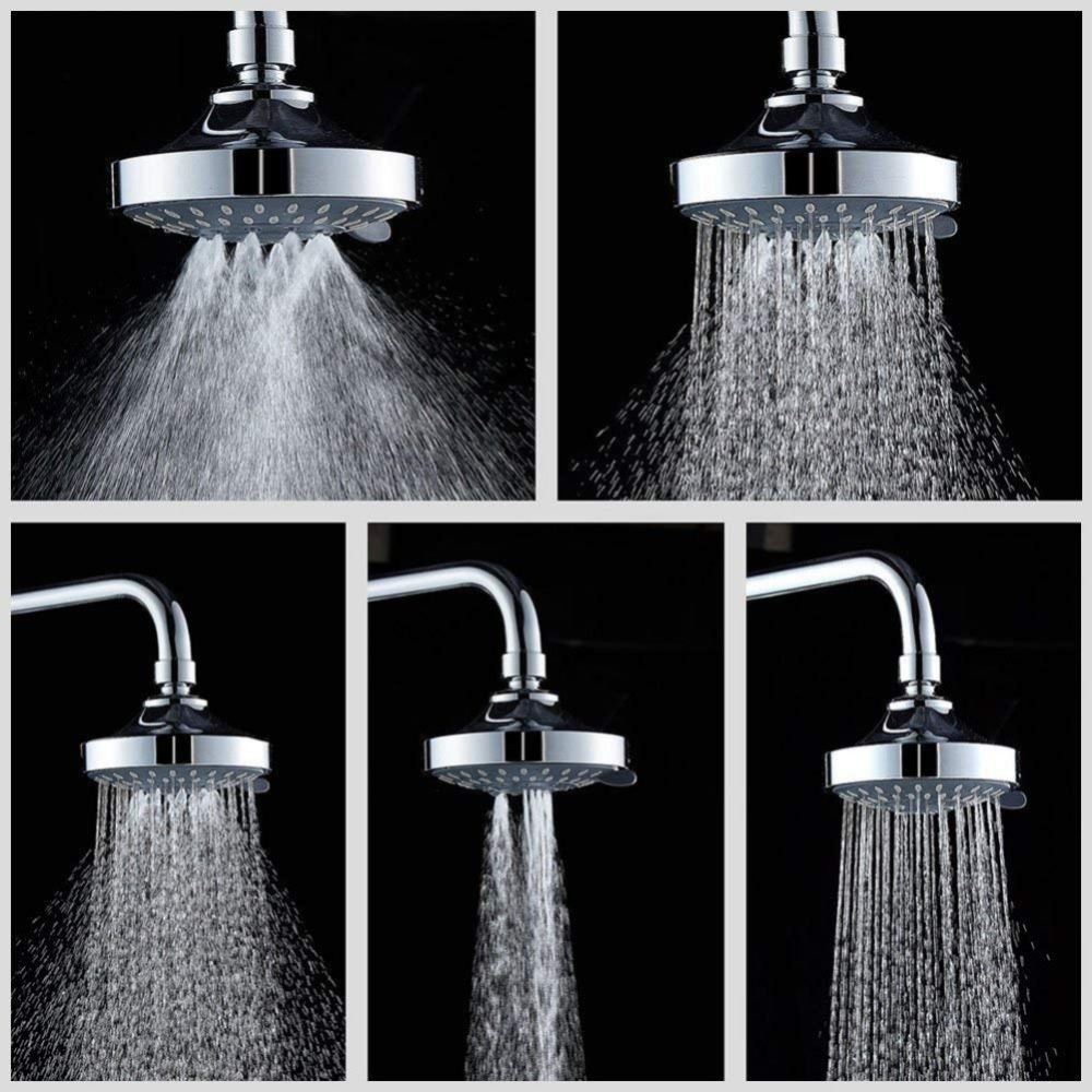 Bathroom Fixtures American 5 Gear Multifunction Hanging Shower Head Nozzle Abs Water Saving Massage Fog Sprinklers Hotel Bathroom Special Summer Sale Shower Faucets