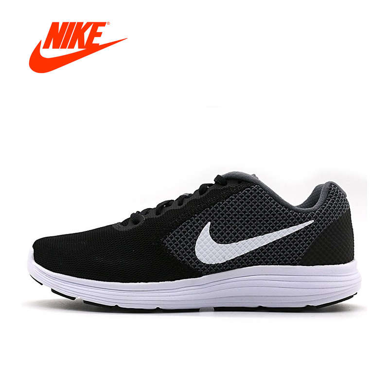 Official NIKE Original Breathable REVOLUTION Men's Running shoes Sports Sneakers Outdoor Walking Jogging Sneakers Comfortable original new arrival official nike revolution 3 breathable men s running shoes sports sneakers outdoor walking jogging athletic