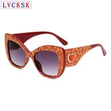 New 2019 Fashion Women Heart Sunglasses Butterfly Cat Eye Big Frame Leopard Tortoiseshell Gradient Flash Mirror Eyeglasses L3 цены онлайн