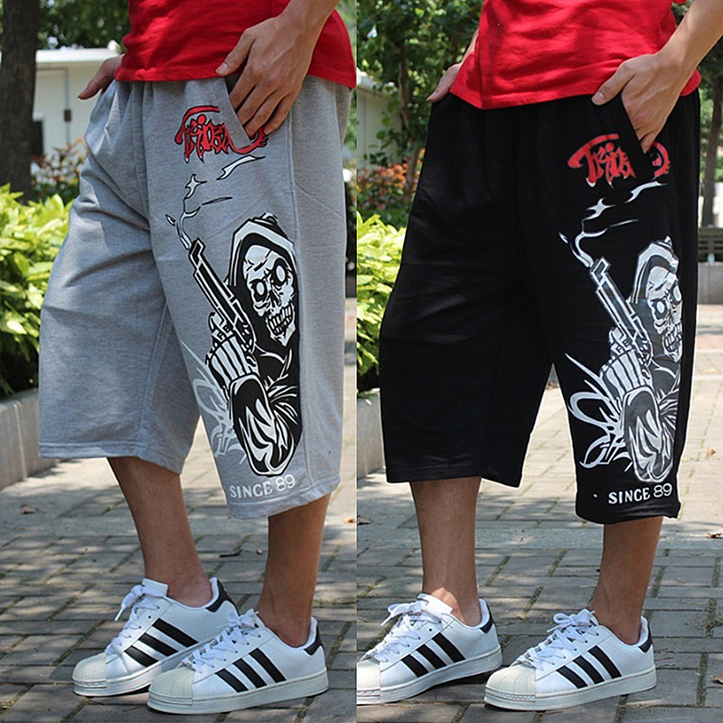 men Harem tactica summer brand Sagging Military sweat Trousers sporting Shorts Plus Elastic Waist Elderly Baggy Jogger