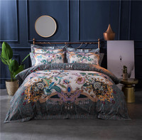 2017 New Egyptian cotton Boho Bedding Set 4pcs Duvet Cover Sets Bed Linen Flat Bed Sheet Set Pillowcase Home Textile Drop Ship