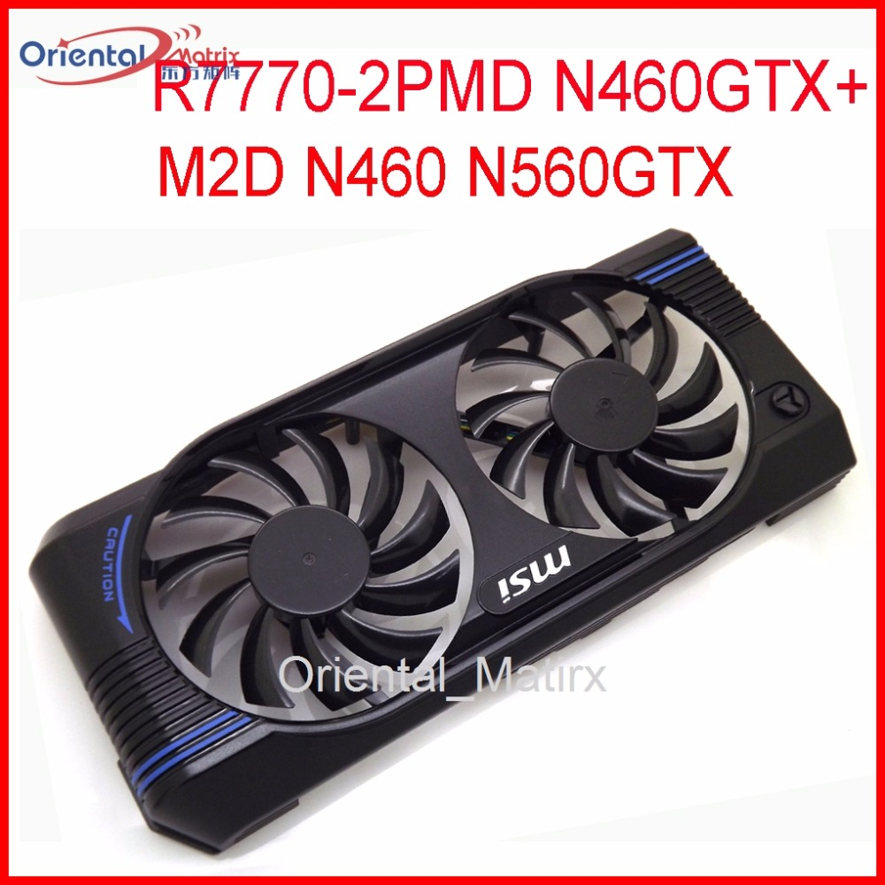 Free Shipping PLD08010S12HH 12V 75mm For MSI N460 N560GTX V5 R7770-2PMD N460GTX+ M2D Graphics Card Cooling Fan free shipping t128015su msi r4770 hd4770 4pin pwn graphics card fan