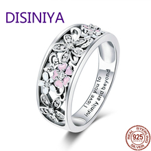 925 Sterling Silver Daisy Flower & Infinity Love Pave Finger Rings for Women Wedding Engagement Jewelry SCR390