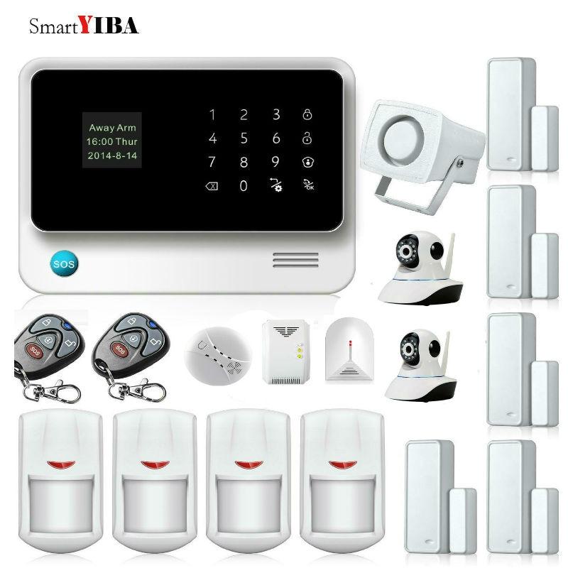 SmartYIBA G90B Plus Home Surveillance GSM Alarm Kit APP Control WIFI Home Security Camera Alarm System