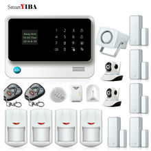 SmartYIBA G90B Plus Home Surveillance GSM Alarm Kit APP Control WIFI Home Security Camera Alarm System Glass Leakage Alarm Kits