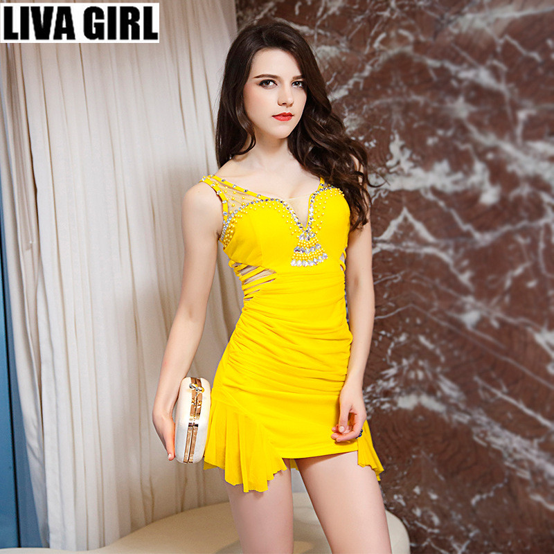 liva girl new sexy mini dress women backless split party braces suspender thin strap dresses for club bar beautiful