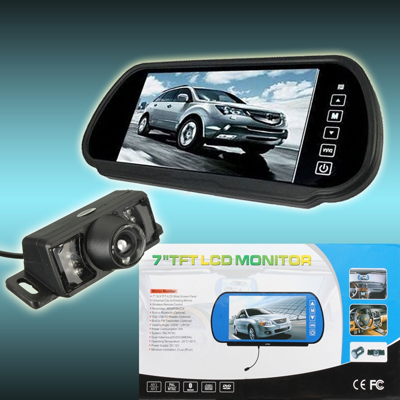 Newest 7 Inch TFT LCD Car Mirror Monitor IR Wireless Reverse Rear View Touch Screen Monitor Parking Backup Camera For Car Truck 7 inch touch screen bluetooth mp5 car rear view mirror monitor tf usb 800 480 lcd fpv bt mirror pal ntsc for car or truck bus