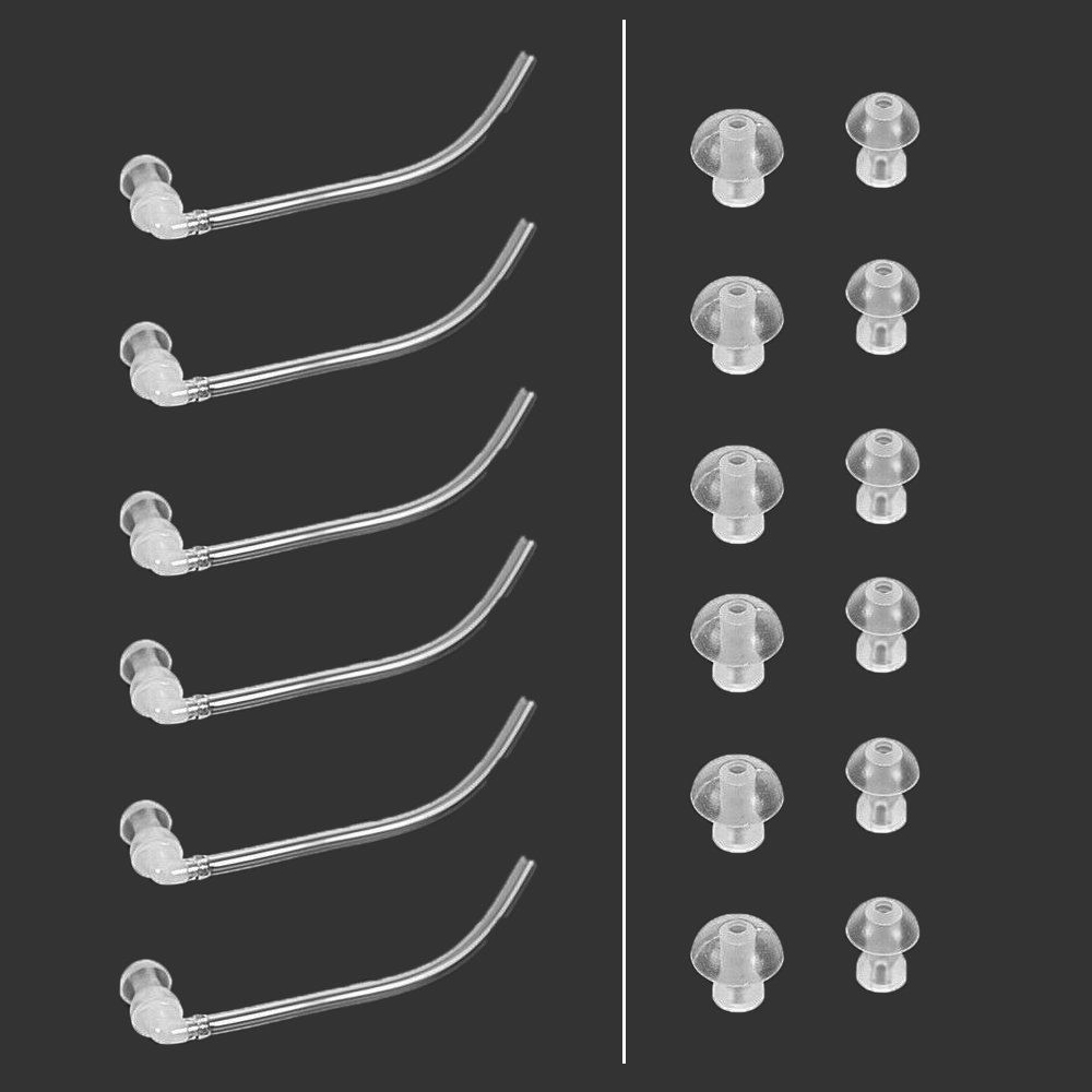 2017 New Arrival 18pcs Ear Tips + 6 Tubes For Siemens Hearing-Aid Resound BTE Hearing Aid Eartips Domes