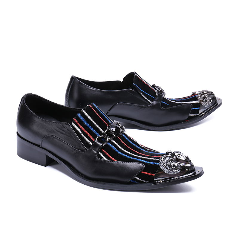 Handgemachte Echtes Bunte As Streifen Schuhe Mode Dekoration New Herrenschuhe Casual Leder Cavel Personifizierte Beertola Picture Metall Flache PwfX5qw