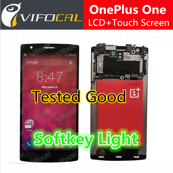 Oneplus One screen With softkey illumination light LCD Display + Touch Screen 100% new Assembly Replacement for cell Phone 5pcs lot 100% new original oneplus one lcd screen touch panel digitizer for oneplus one 64gb 16gb lcd display 100%tested