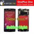 Oneplus one tela com tecla de função de iluminação luz do visor lcd + tela de toque 100% nova substituição conjunto da tela para telefone celular