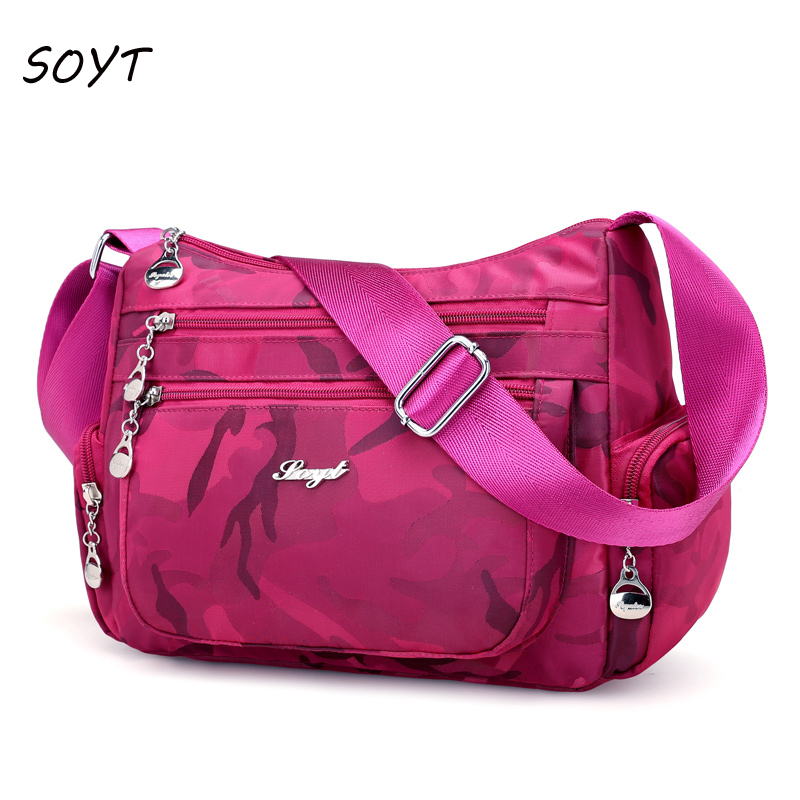Fashion women shoulder bag Waterproof Nylon Ladies handbag Camouflage crossbody bag female messenger bag bolsa sac a main lady messenger bag messenger bag ladies waterproof handbag nylon big shoulder bag style bolsa sac a main femme de marque luxe cu