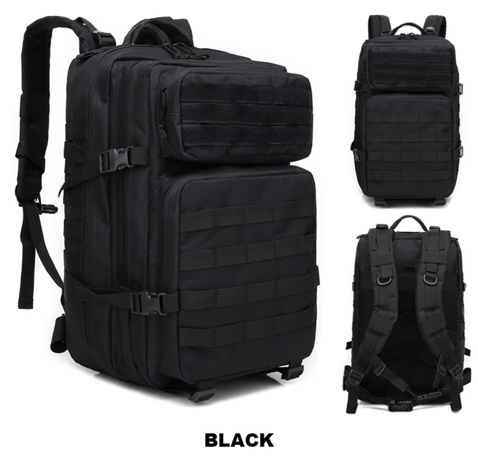 43L Outdoor Backpack Military Tactical Backpacks Men Waterproof Backpacking Large Capacity Army Bag Pack Hiking Camping Rucksack (13)