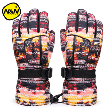 ФОТО Shipping free Paternity paragraph men and women couple mountaineering outdoor ski gloves gloves thick warm waterproof non-slip