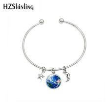2019 New Space Galaxy Nebula Glass Dome Astronomy Galaxy Hand Craft Jewelry Solar System Planets Bracelets Jewelry(China)