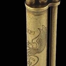 Прямая поставка WZH dragon wing старый стиль ретро Аутентичные медные керосиновые колеса jifeng зажигалка
