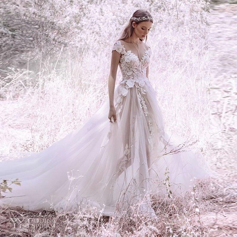 Verngo Flowers Appliques Tulle Evening Dress Princess A Line Party Ivry Long Dresses Abiye Gece Elbisesi