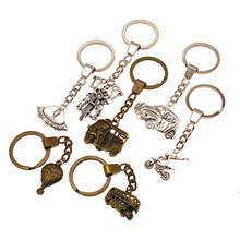 Bus Car Motorcycle Skull Mix Key Chain Charm For Diy Handmade Gifts Keychain Transporter Tools