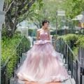 2017 Nova Luxo Elegante Princesa Vestidos Quinceanera Beading Querida vestido de Baile Do Partido Prom Vestidos Vestido De 15 Años QA1121