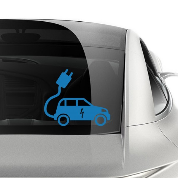 Electric Car Symbols Sticker Vinyl Car Decoration Home Decor Easy To Apply Removable Durable