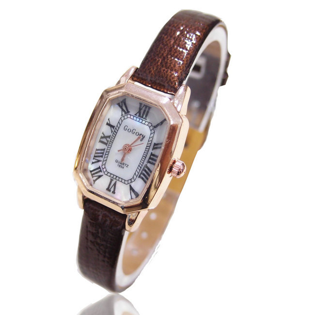 wholesale leather band wristwatches fashion quartz