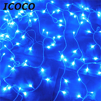 ICOCO 1PCS High Quality 100 LED 12M LED String Fairy Lights 8 Modes Party Christmas Garden