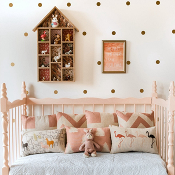 Variety of sizes Polka Dots , Gold Polka Dots Stickers for kids rooms