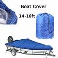 Сверхмощный Trailerable лодка Крышка 14--16FT высокое качество водостойкая УФ-защита морской класс лодка крышка классические аксессуары
