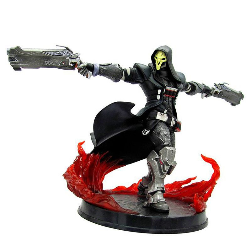 US $49 72 |26cm hot Game OW Azrael Death Reaper Ultimate skill Ripper  Action Figure Model Toys Anime Game Doll Toy christmas Gift reaper-in  Action &