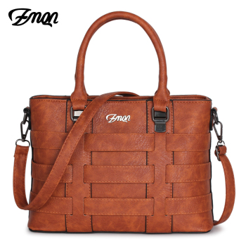 ZMQN Women Bags Handbags Women Famous Brands PU Leather Handbag Ladies Hand Bags For Women 2018 Vintage Shoulder Sac Femme C821