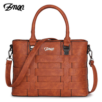 ZMQN Women Bags Handbags Women Famous Brands PU Leather Handbag Ladies Hand Bags For Women 2019 Vintage Shoulder Sac Femme C821
