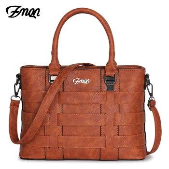 ZMQN, bolsos de las mujeres bolsos marcas famosas mujeres de cuero PU bolso de cuero de Damas bolsos de mano para las mujeres 2018 Vintage hombro Sac Femme c821