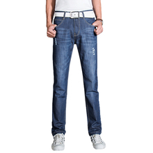 2016 Hot Sale Holes And Scratches Denim Jeans For Men All Match Loose Version Straight Good Quality Soft Cotton Men's Jeans