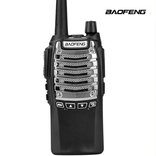 Baofeng Walkie talkie 8 UV 8D Geral W Alta Potência Dual Lançamento Chave 5 15 KM Comunicação À Distância Multifunções segurança Interfone