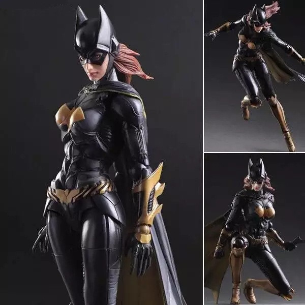 Movie Figure 25 CM Batman Arkham Knight Batgirl Variant Batgirl Movable PVC Action Figure Collectible Toy Model Christmas Gift game 26 cm rise of the tomb raider lara croft variant painted figure variant lara croft pvc action figure collectible model toy