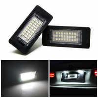 2 pièces/ensemble voiture LED numéro plaque d'immatriculation lumières ampoule pour E39 E60 E82 E70 E90 E92 X3/5/6 Touring vente chaude