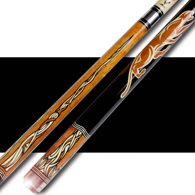 Pool Cues 12.75mm/11.5mm Tip Black Orange Color Billiards Cue Stick China 2