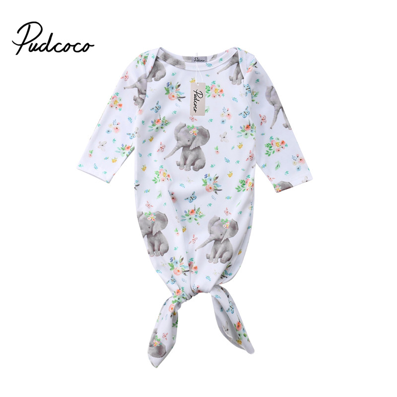 Pudcoco Newborn Baby Swaddle Sleeping Bag Girls Elephant Flower Blanket Sleeping Bag Swaddle Wrap Cotton Kids Clothes Outfits цена