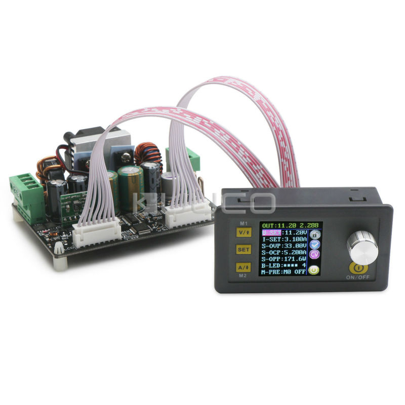 Digital Meter DC6~40V to 0V~32V 5A Adjustable Voltage Regulator 160W Color LCD Digital Controller Buck-Boost Power Supply Module rotary encoder ose104 second hand looks like new tested working