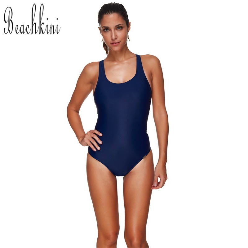 Deep Blue Bikini 2017 New Backless One Piece Swimsuit Push Up Monokini Plus Up Bodysuit Sexy Slim Swimwear Women S-3XL waterprincess women plus size backless one piece swimsuit beach swimwear criss cross back high cut monokini bodysuit bikini