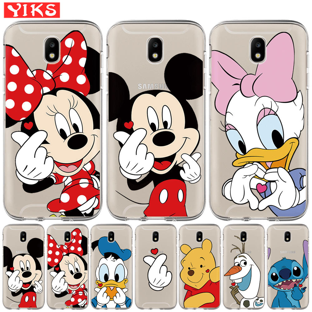 Nette <font><b>Mickey</b></font> Minnie Fall Für <font><b>Samsung</b></font> Galaxy J3 <font><b>J5</b></font> J7 2015 <font><b>2016</b></font> 2017 J2 Pro J6 2018 Prime G530 Lovey cartoon TPU Abdeckung Fall Etui image