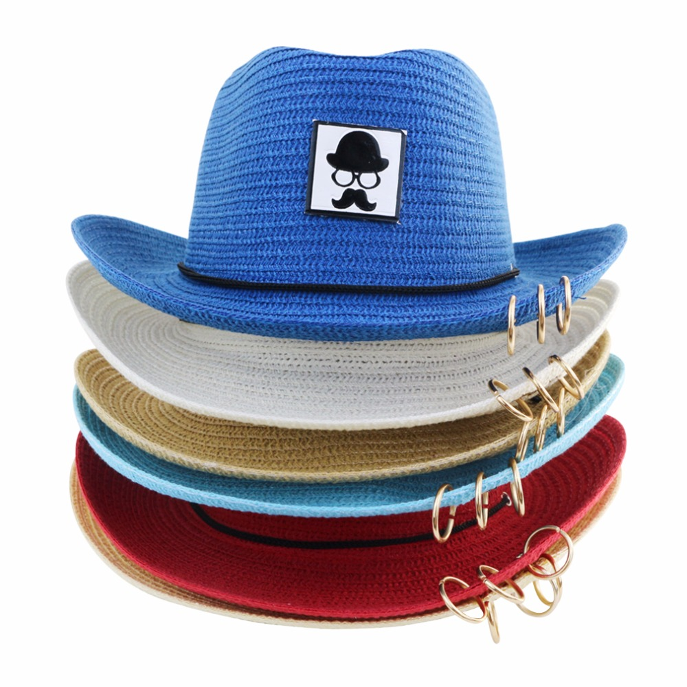 af3345d2296 Detail Feedback Questions about LNPBD 2018 Hot Children s Cowboy Summer Sun  Beach Straw Hat Wide Brim UPF 50 Protection Anti UV Protection Hats for Kids  on ...